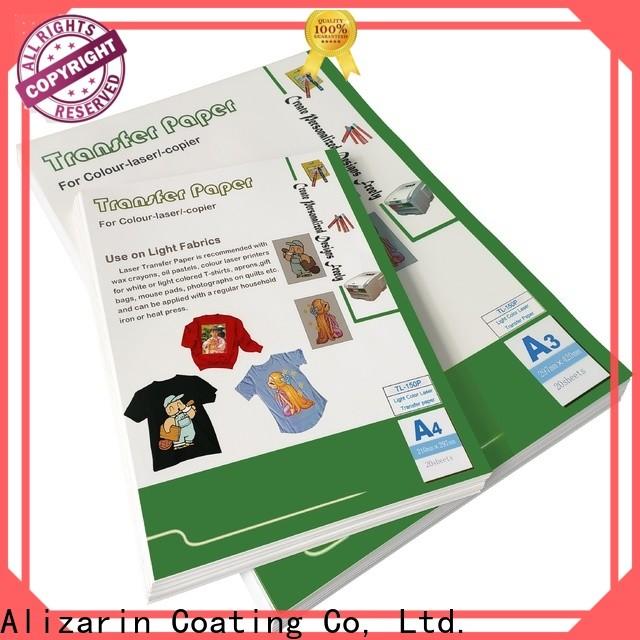 custom laser printer transfer paper manufacturers for garments