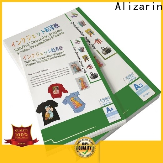 Alizarin iron on transfer paper for business for light fabric