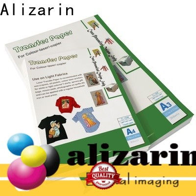 Alizarin top color laser transfer paper manufacturers for leather articles