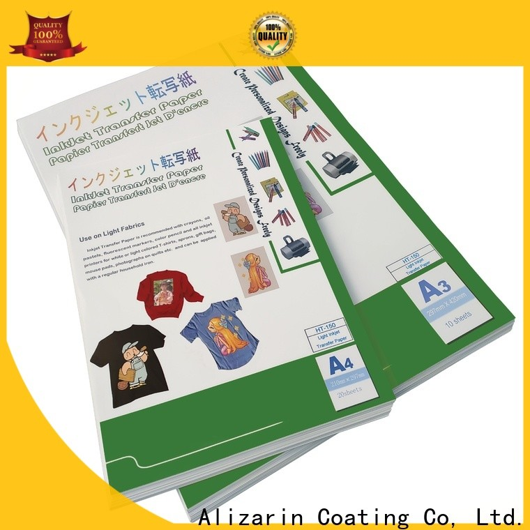 Alizarin inkjet heat transfer paper company for clothes