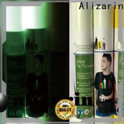 Alizarin heat transfer pu vinyl company for bags