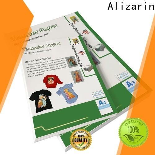 Alizarin custom laser transfer paper suppliers for garments