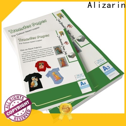 Alizarin high-quality color laser transfer paper for business for magnetic material
