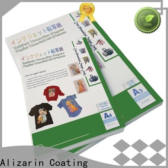 Alizarin custom inkjet transfer paper for t shirts supply for garments