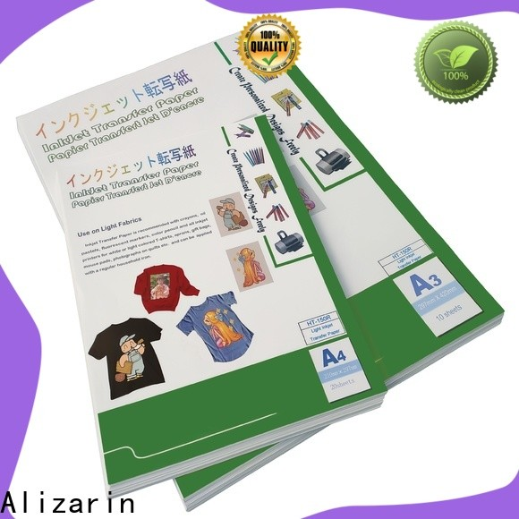 Alizarin high-quality inkjet heat transfer paper supply for clothes