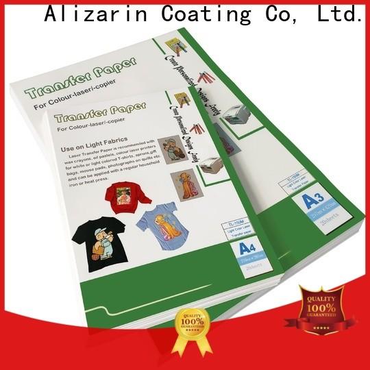 Alizarin laser printer transfer paper suppliers for garments