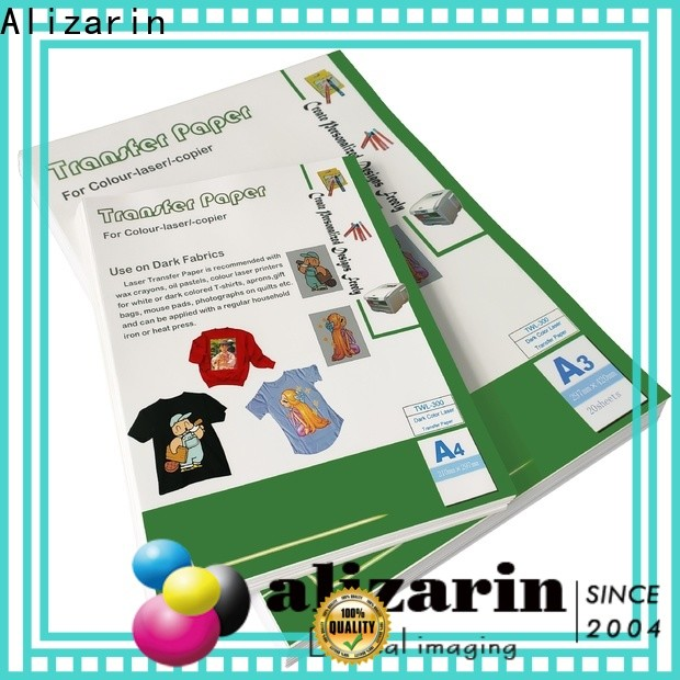 Alizarin color laser transfer paper manufacturers for handbags