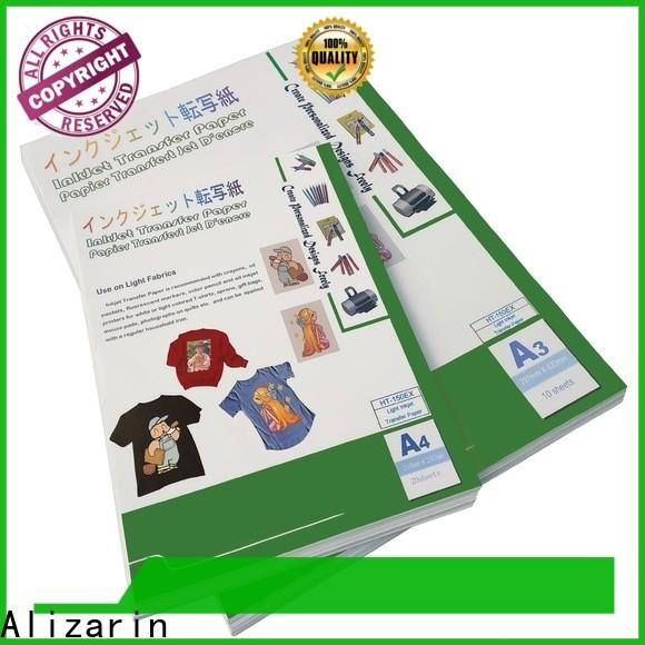 Alizarin iron on inkjet transfer paper company for light fabric