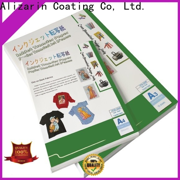 Alizarin high-quality inkjet transfer paper company for dar t-shirt