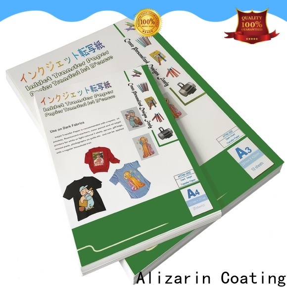 Alizarin high-quality inkjet heat transfer paper supply for garments