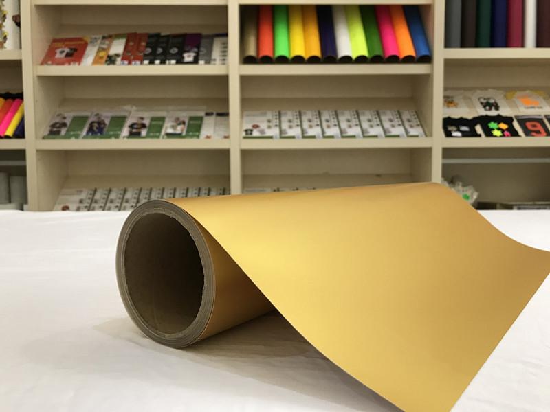 HTG-300SB Brilliant Golden  Printable Vinyl PU Flex for Eco-solvent Print & Cut