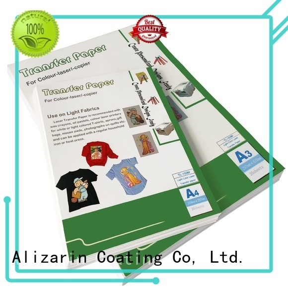 Alizarin high-quality laser heat transfer paper suppliers for garments