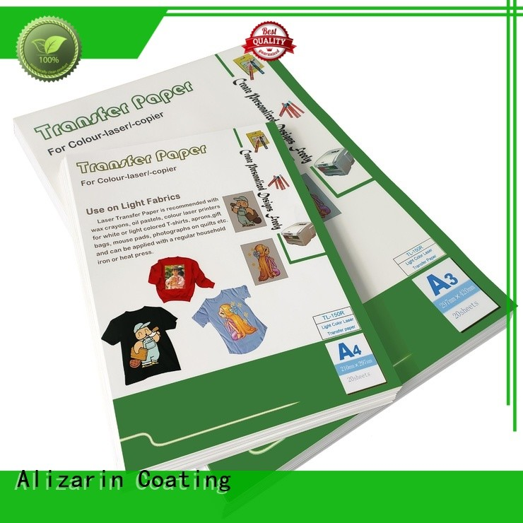Alizarin laser heat transfer paper supply for art papers