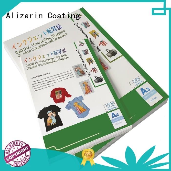 Alizarin latest inkjet heat transfer paper for business for garments
