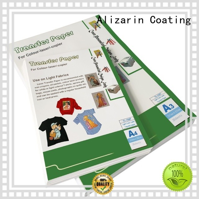 Alizarin latest color laser transfer paper suppliers for handbags