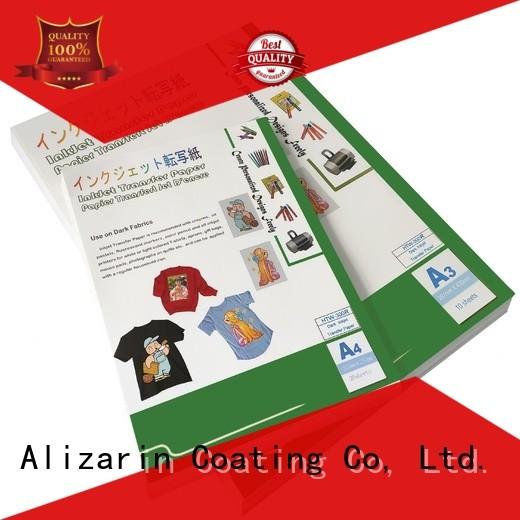 Alizarin inkjet transfer paper supply for dar t-shirt