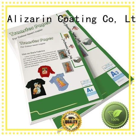 Alizarin custom laser transfer paper for business for art papers